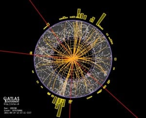 Particle tracks-Higgs Boson