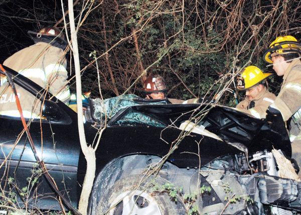 Crews Work Accident Scene