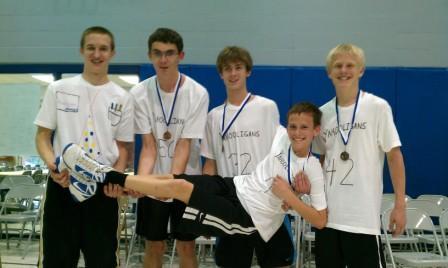 Third-Place Team for Eighth-Grade Boys