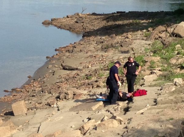 Rescue from Mo River Bank 071613_7