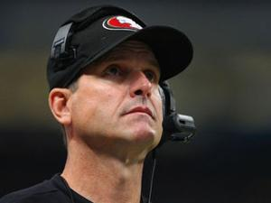 49ers' Coach Jim Harbaugh