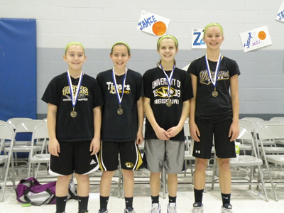 First-Place Team for Fifth- and Sixth-Grade Girls