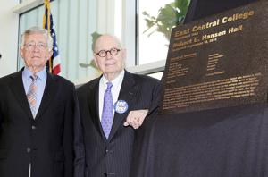 Robert E. Hansen Hall Dedicated at East Central College