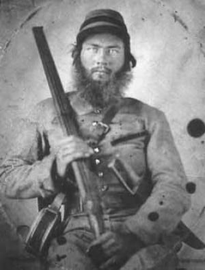 Civil War Confederate Cavalry man