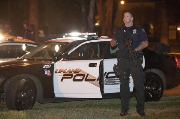 LAPD Respond in Manhunt