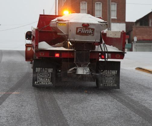 Treating Snowy Roads