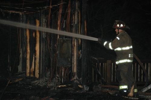 Fire Destroys Home West of St. Clair