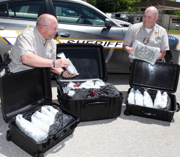 Expensive Haul: seized high-grade marijuana