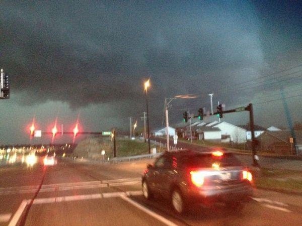 Storm on Hwy. 100
