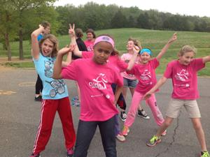 Girls on the Run Having Fun