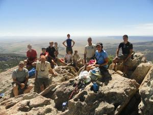 Lunch atop the Tooth of Time at Philmont