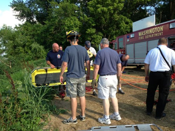 Rescue from Mo River Bank 071613_4