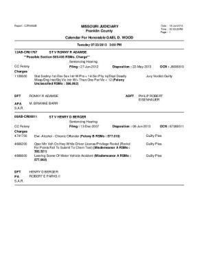 July 23 Franklin County Circuit Court Division 1 Docket (Part 6)