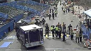 Two Explosions Heard at Finish Line of the Boston Marathon