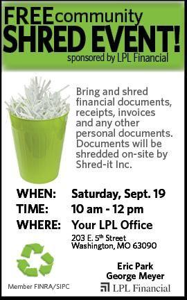 <p>Free Shred Event Op...