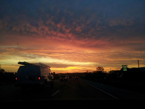 Sunrise on I-44