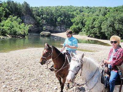 Riding Horses Along Buffalo River