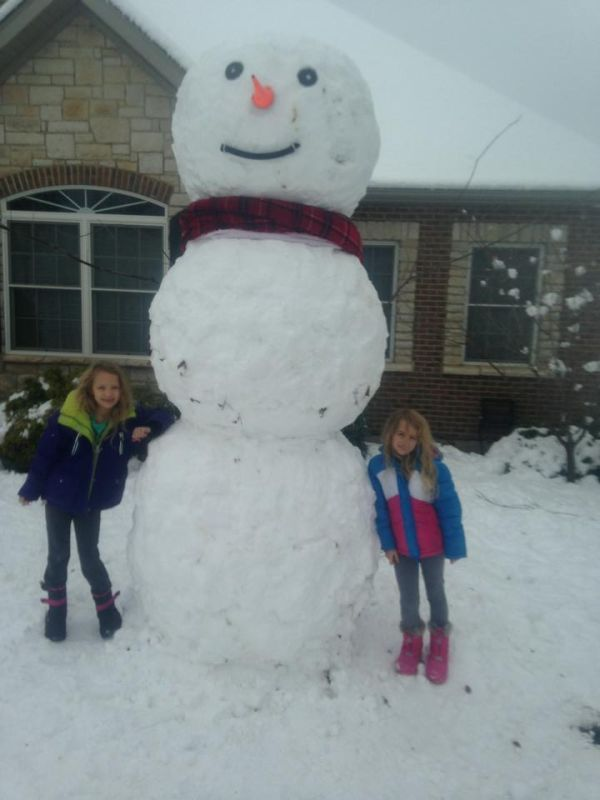 Charley and Aubrey's Snowman