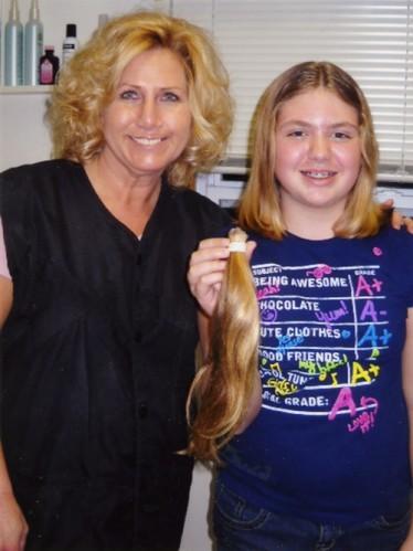 Donates Hair