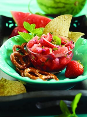 Watermelon-Strawberry Salsa