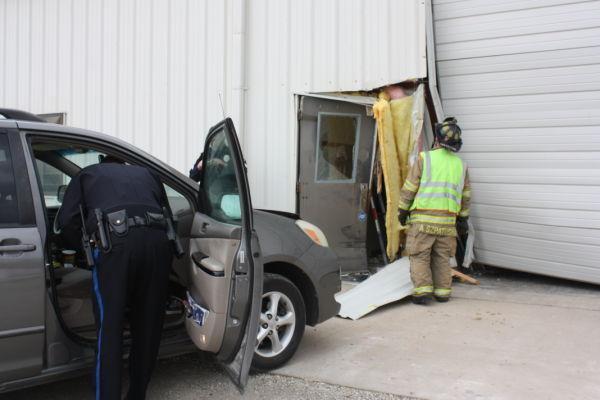 Van Into Building