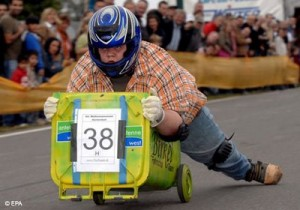 Garbage Can Racing in Germany