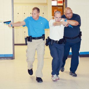 Police Officers Train For Active Shooter at Union Middle School