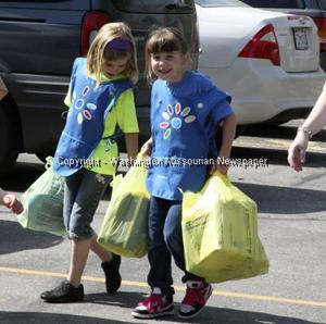 Girl Scouts Hold April Showers Drive