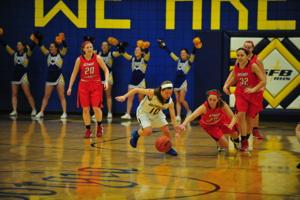 Lady Knights Roll Past DuBourg