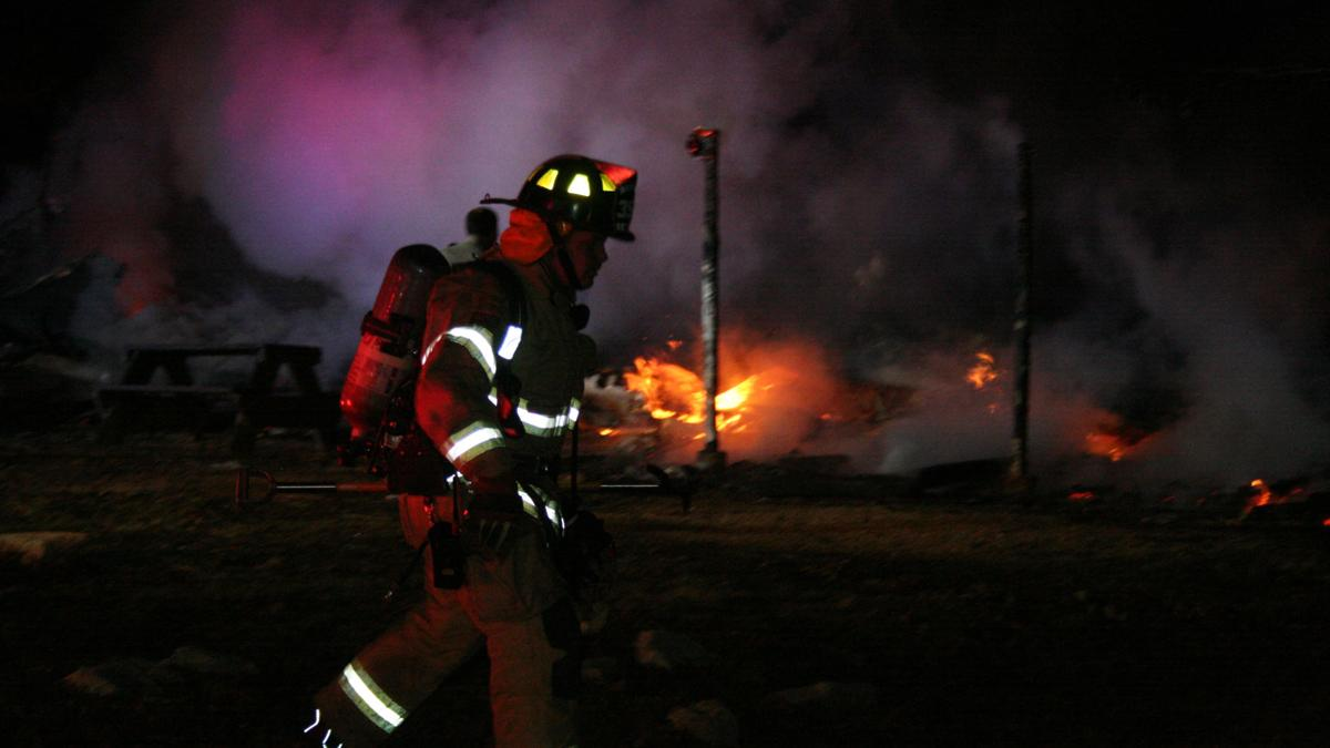 Mobile Home in Rural Area Burns to the Ground