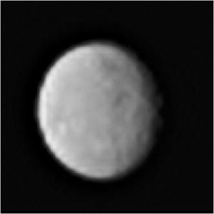 <p>An image of Ceres taken by the Dawn spacecraft on January 13th, 2015. The images will get clearer as Dawn gets closer. Image Credit: NASA/JPL-Caltech/UCLA/MPS/DLR/IDA.</p><p>For more up-to -ate images, be sure to check out news from the Dawn mission: http://dawn.jpl.nasa.gov/news/.</p>