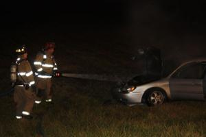 Car Stikes Utility Pole