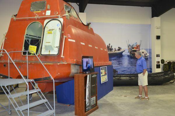 Lifeboat at Navy SEALS Museum