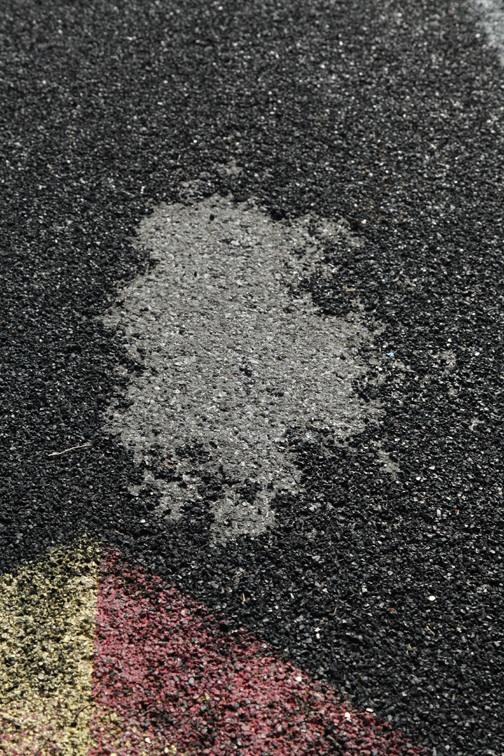 Pothole on Track