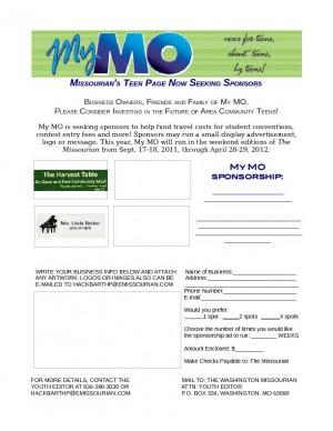 My MO Sponsorship Info