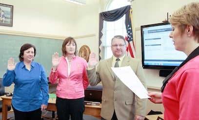 School Board Members Sworn In