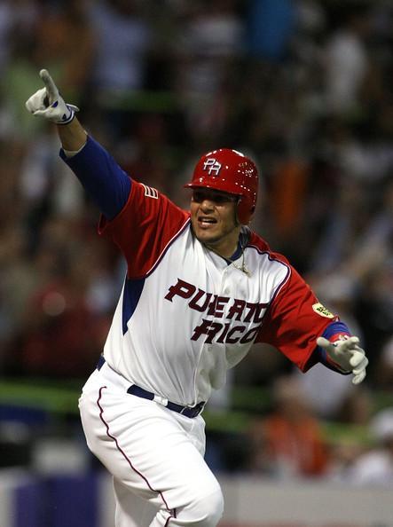 Yadier Molina #4 of Puerto Rico