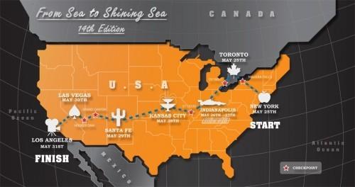 Gumball 3000 Map 2012