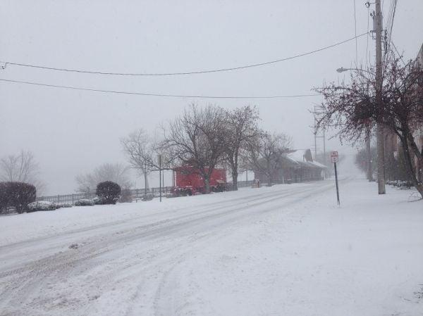 Caboose in Snow