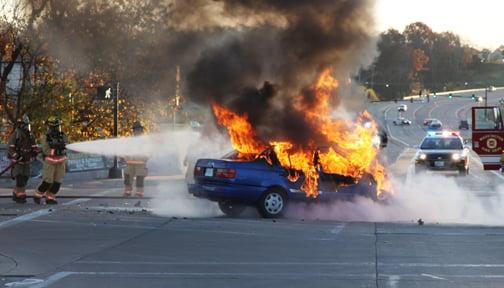 Car Fire Saturday Morning