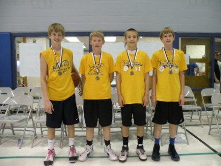 Second-Place Team for Seventh-Grade Boys