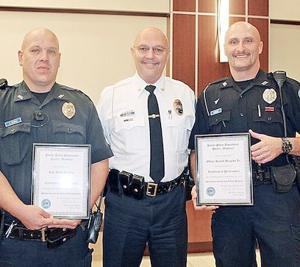 Two Pacific Policemen Recognized For Arrestsn Of SullivanRobbery Suspects