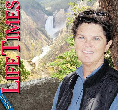 Barb Ostmann at Yellowstone River