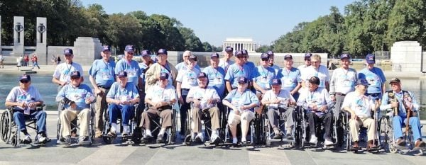 Franklin County Honor Flight at Memorial