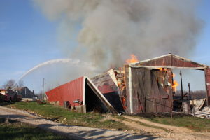 Barn Fire South of Union
