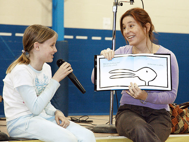 Amy Krouse Rosenthal at Family Reading Night in 2010