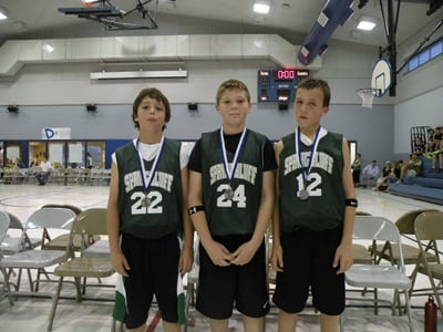 Second-Place Team for Fifth-Grade Boys