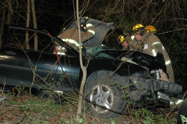 Crash Victims Rescued From Vehicle