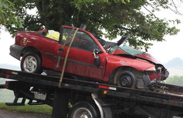 Car Involved in 080213 HWY 100 Crash