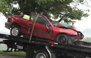 Car Involved in 080213 HWY 100 Crash